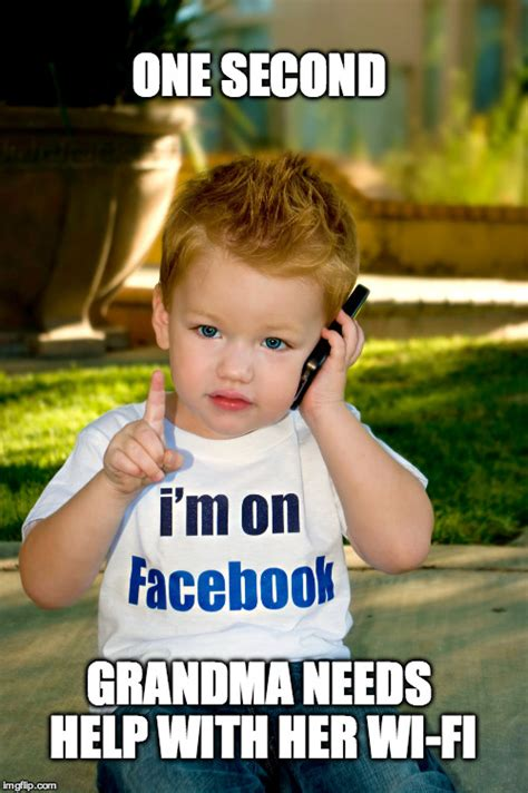 Kid On Phone Meme - tech savvy kid imgflip