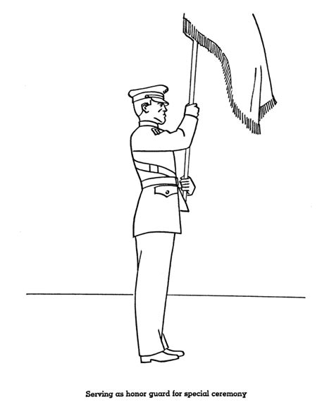 coloring page guard bluebonkers memorial day coloring page sheets honor guard