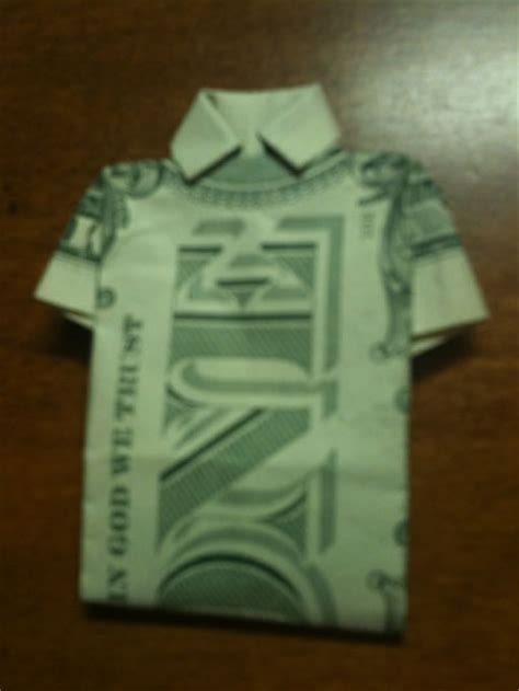 Money Shirt Origami - origami folding how to make a money origami