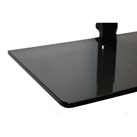 Smoked Glass Shelf simple shelving solutions 24 inch smoked glass tv smart shelf blg 00024