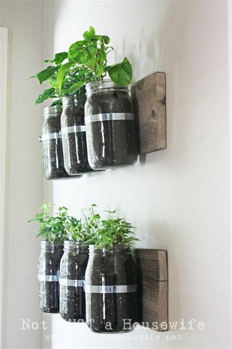 Wall Mounted Herb Planter by 3 Diy Herb Gardens You Ll Want To Grow Huffpost