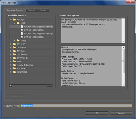 adobe premiere pro no sequence preview preset file or codec introduction to adobe premiere pro cs4