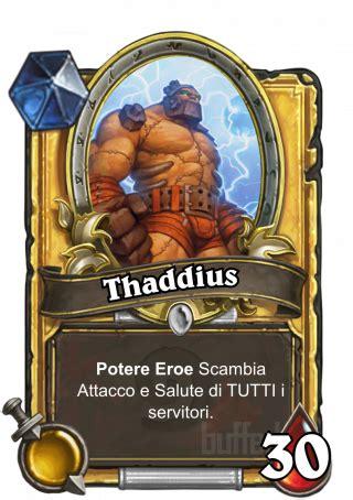 testo eroe thaddius thaddius eroe carrello hearthstone