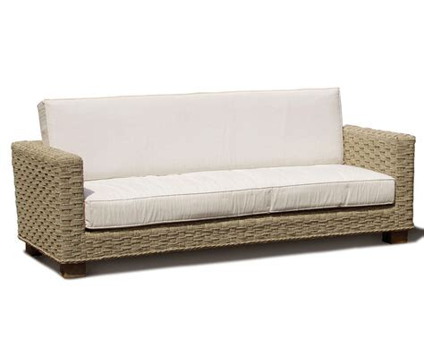 Seagrass Sectional Sofa Seagrass Water Hyacinth 3 Seat Sofa Teak