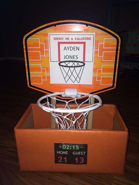 sports box ideas basketball valentines day box craft ideas
