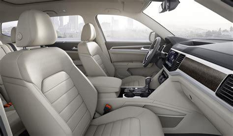 volkswagen atlas interior seating production begins for all new vw atlas midsize three row