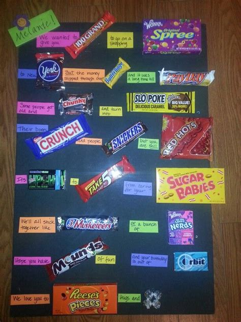 Birthday Card Made Out Bars Candy Bar Birthday Card I Think It Turned Out Super
