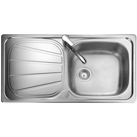 Rangemaster Baltimore Stainless Steel 1 0 Bowl Kitchen Sink Rangemaster Kitchen Sinks