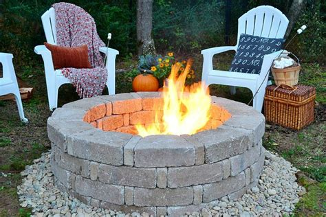 building a firepit in backyard how to build a fire pit hgtv