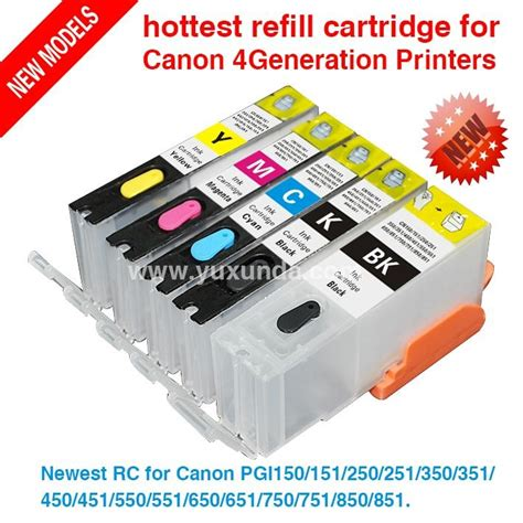 Cartridge Canon Ip7270 newest rc for canon pgi750 cli751 pixma ip7270 mg5470