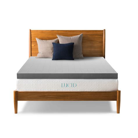 lucid bed lucid mattress topper lucid gel pad 3 lucid by linenspa