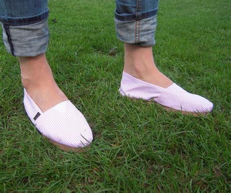 fashion alpargatas polo shoe pink and white striped