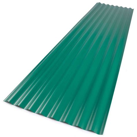 palruf 26 in x 12 ft clear pvc roofing panel 100427