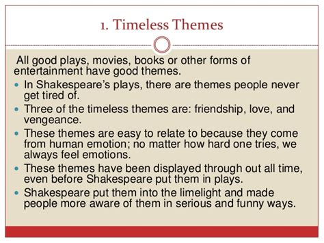 list of themes in hamlet the timeless idea that is shakespeare