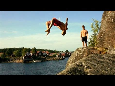 cliff rope swing cliff diving rope swing triples 2014 youtube