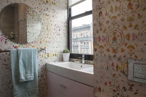 wall coverings bathroom new york by eclectic builders