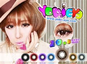 Sale Softlens Eyecandy Gray Soft Lens Eye Gray Korea yoki eye 20 8mm softlens maniac
