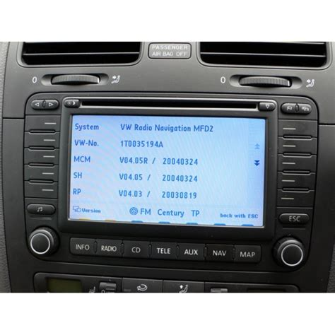 2014 skoda navigation mfd2 travelpilot dx sat nav update