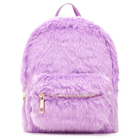 Bag Charm F21 forever21 faux fur mini backpack 20 liked on polyvore featuring bags backpacks purple pink