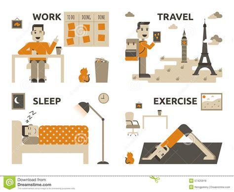 balanced design concept work life balance stock vector image of home life night