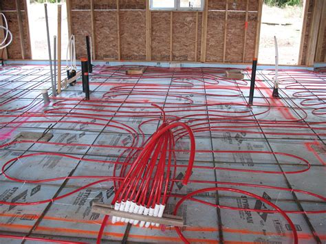 radiant floor heat geothermal slab grade house plans 5589