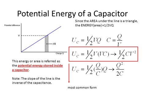 capacitor stored energy equation ch 20 electric potential and electric potential energy ppt