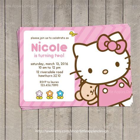 hello kitty themed invitation hello kitty invitation hello kitty by littleapplesdesign