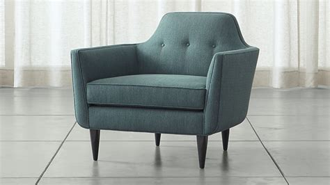 In A Chair by Teal Blue Mid Century Accent Chair Crate And Barrel