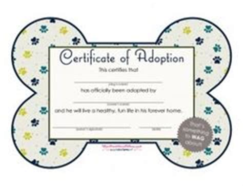 puppy adoption certificate 6th on adoption themed birthday and rice krispies