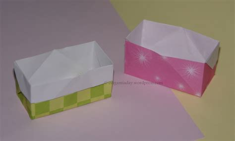 Origami Box Simple - baskets and boxes an origami a day page 2
