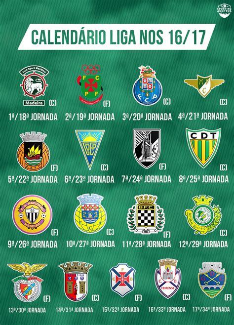 Calendario Sporting Calend 225 Liga Nos 2016 2017 Imagem Sporting Adeptos