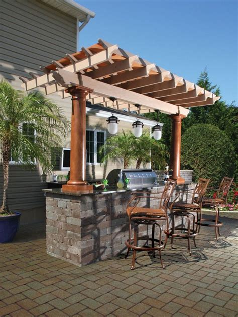 pergola outdoor kitchen 70 awesomely clever ideas for outdoor kitchen designs