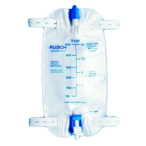 Sale Urine Bag Gea 1 standard rusch leg bag 18 inch tubing on sale with