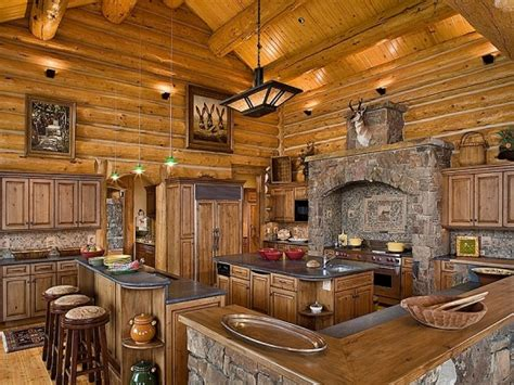 Rustic Log Kitchen Cabinets Log Cabin Kitchens With Modern And Rustic Style Homestylediary