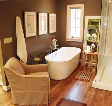 bathrooms with wood floors choosing the right bathtub for a small bathroom