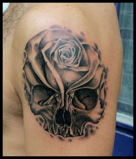 skull tattoo designs with flowers skull and flower