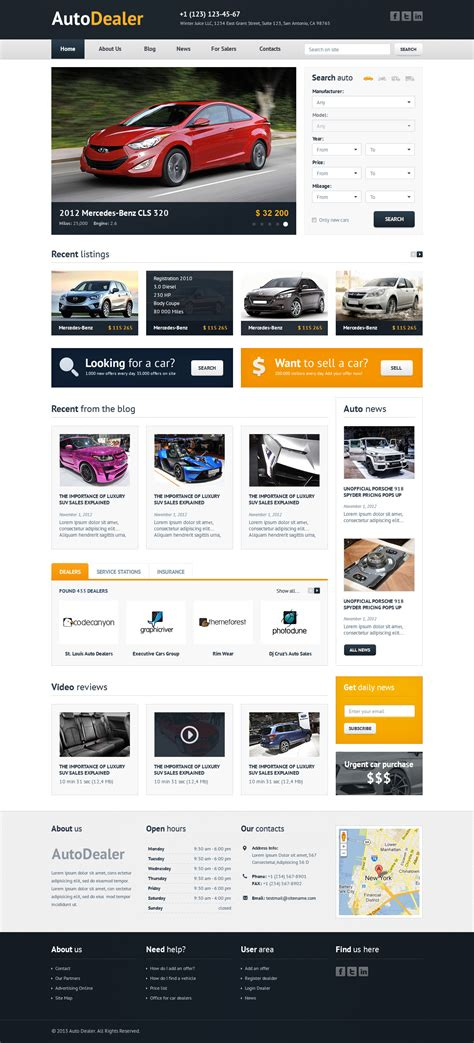 auto dealer template auto dealer car dealer html template by winterjuice
