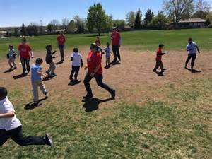 employees of larry h miller ford volunteer with playworks