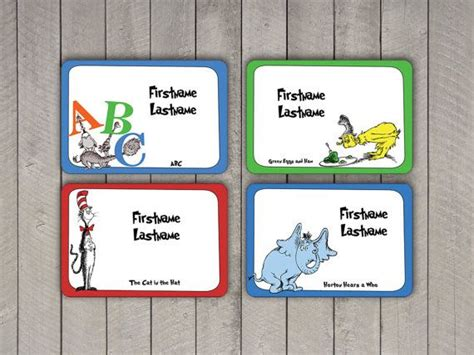 printable name tags for doctors 80 best images about dr seuss party or baby shower ideas