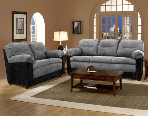 And Black Living Room Sets by Bulldozer Graphite Black Sofa And Loveseat Living Room Sets