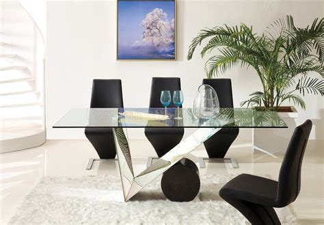Pantek Furniture by Dt630 Dining Table W Glass Top By Pantek With Optional Chairs