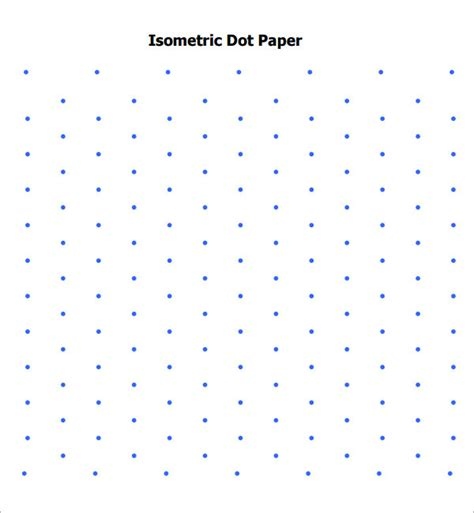 Printable Isometric Dot Graph Paper | isometric dot paper 8 free download for pdf