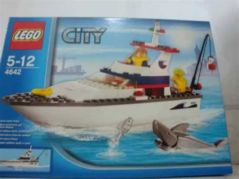 lego boat and shark lego city 4642 fishing boat speed build excluding
