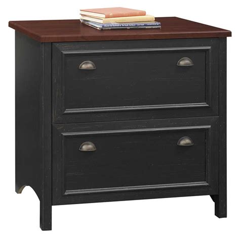 Black 2 Drawer Lateral File Cabinet Bush File Cabinets Reviews