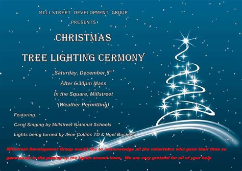 tree lighting ceremony tree lighting ceremony