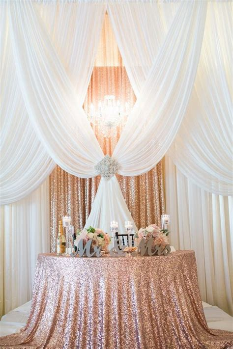 amazing wedding head table backdrop decoration ideas