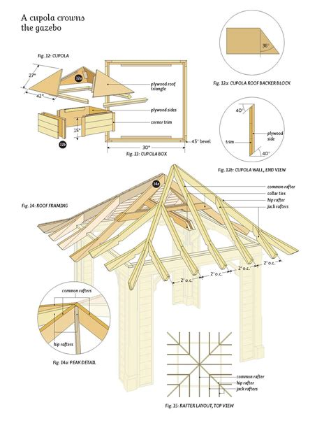 12x12 Hip Roof Plans Plan Gazebo Garden Shed Plans Roof Designs For Garden