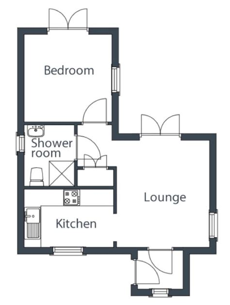 Small House Plans Under 700 Sq Ft 431 sq ft cottage by the wee house company