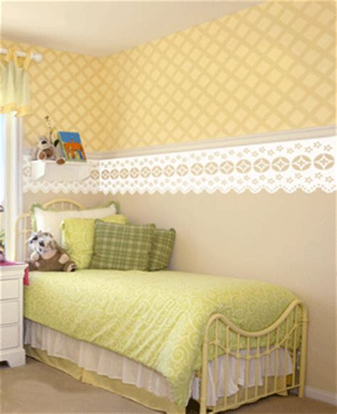 decorating bedroom walls with fabric modern wall decor ideas lace fabric and doily patterns