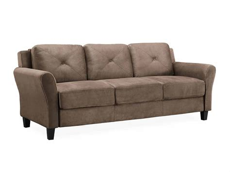 lifestyle sofa hartford brown sofa with rolled arm by lifestyle